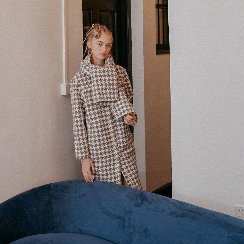 As Couleur Unique Chaud Plaid Shown Printemps Large Ld815 Femme Longues Long Écharpe 201 Poitrine eam Soild Manteau Manches Élégant Col Taille FwzHXxq