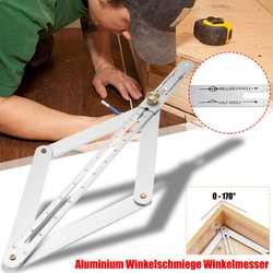 15 Polegada universal mitra ângulo ferramenta de medição régua quadro aço carbono transferidor multi-ângulo medição ferramentas para trabalhar madeira