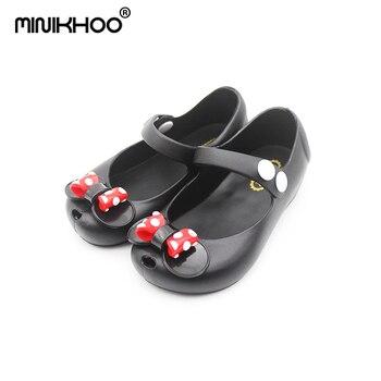 Мини-сандалии Melissa с бантиком и Микки-Маусом, прозрачные сандалии для девочек, 2019