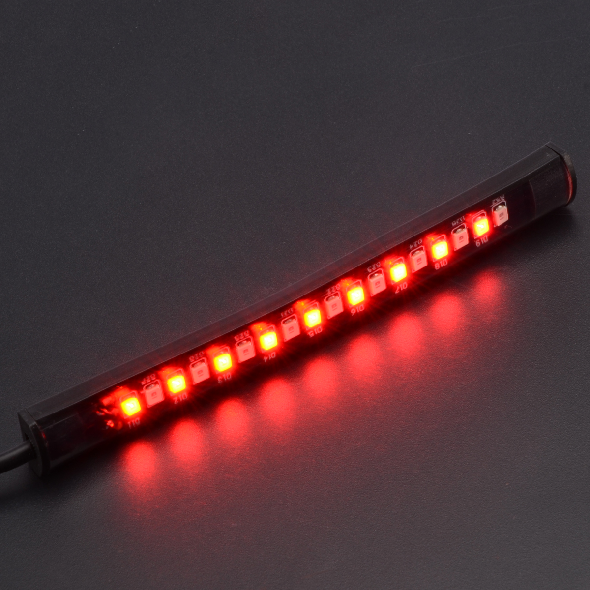 12V Motorcycle Scooter 18 LED Red Rear Tail Stop Brake Light Lamp