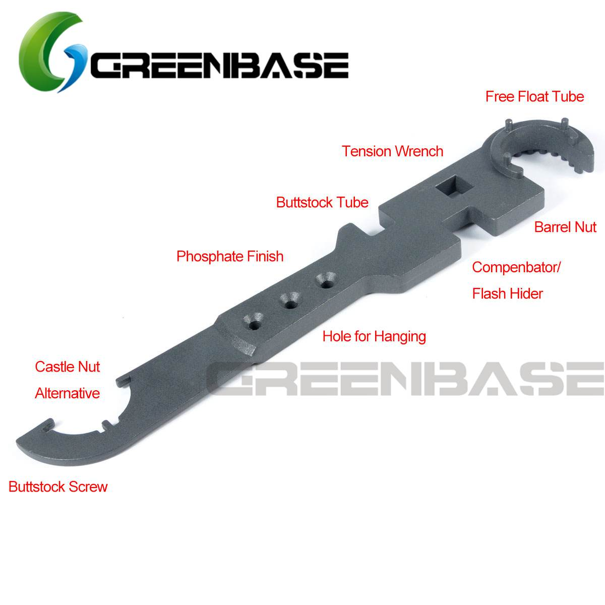Greenbase Armorer Wrench For AR15 Huandguard Tool Multi Function Armorer Wrench Combo Tool image