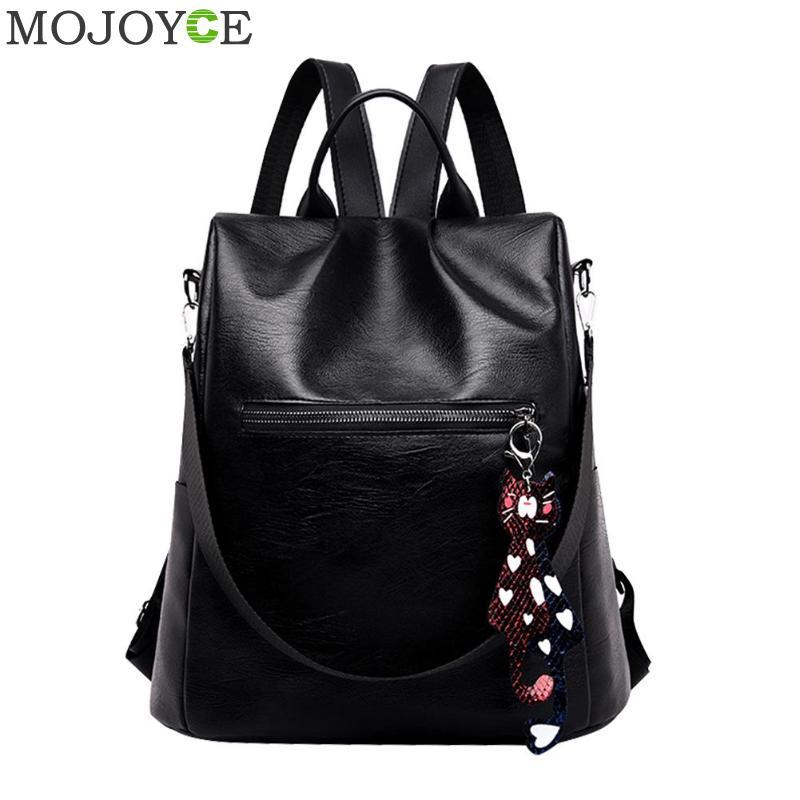 Anti-theft Leather Backpack Female Designer School Bags For Teenager Girl Waterproof Travel Backpack Women Bagpack