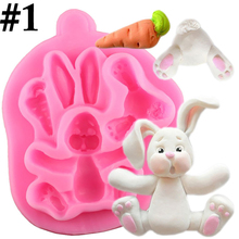 New Cute Cartoon Rabbit Shape Easter Silicone Mold DIY Baking Cake Tools Home Kitchen Supplies