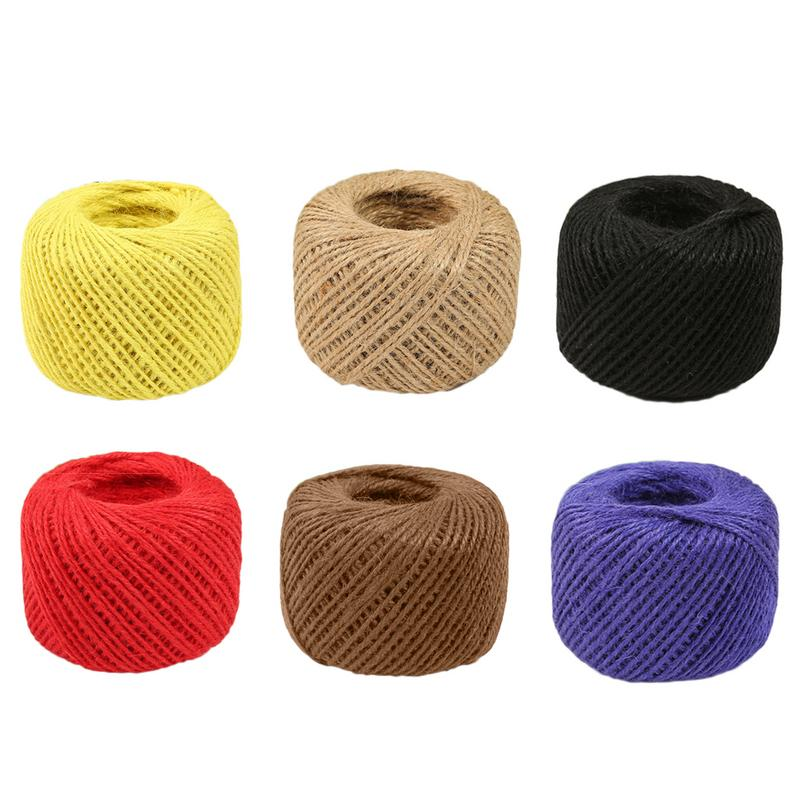 5 Colours.Natural Fibre. Decorative Jute Hessian Cord Twine