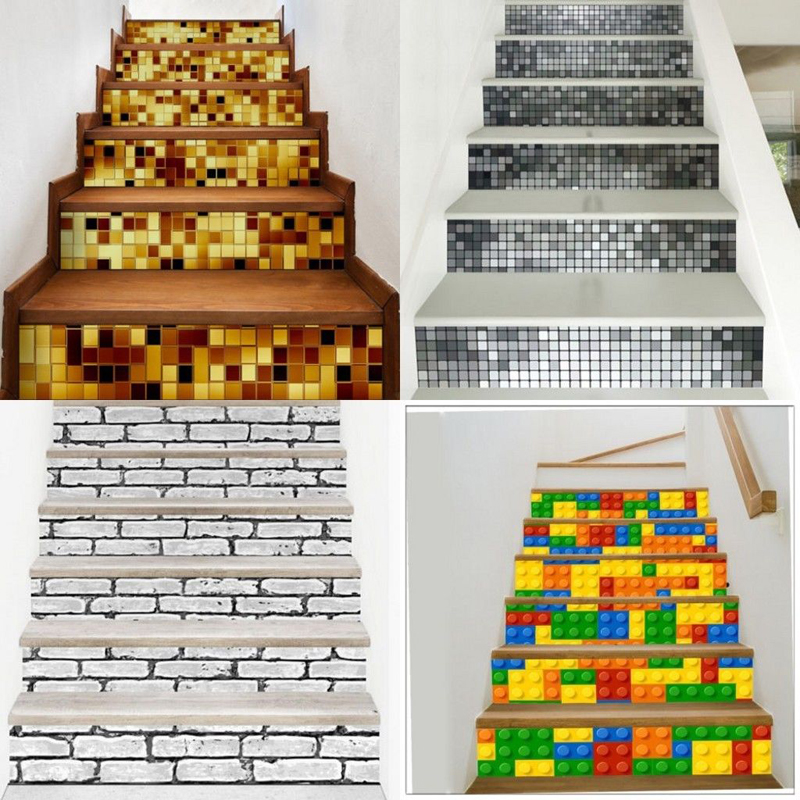 Home Decor 2019 New Style 6pcs 3d Self-adhesive Diy Vinyl Staircase Stair Riser Floor Sticker Wall Decal Color Stair Sticker Floor Art Wall Decal