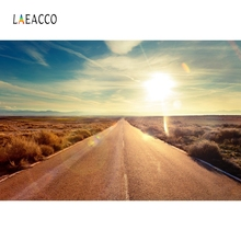 Laeacco Road Sunshine Mountains Backdrop Nature Photography Backgrounds Customized Photographic Backdrops For Photo Studio