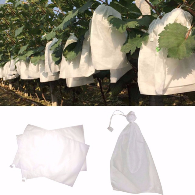 Image 4 - 100Pcs Grape Protection Bags For Fruit Vegetable Grapes Mesh Bag Against Insect Pouch Waterproof Pest Control Anti Bird Garden-in Grow Bags from Home & Garden