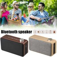Portable Wooden Home Wireless Phone Bluetooth Speaker Metal Ouch Fabric Computer Card Audio W5A Wireless Speaker
