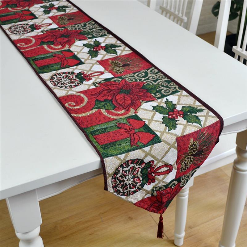 Christmas Decorative Table Runner Tablecloths Party Decoration Dining Table Runner Christmas Decorations For Home