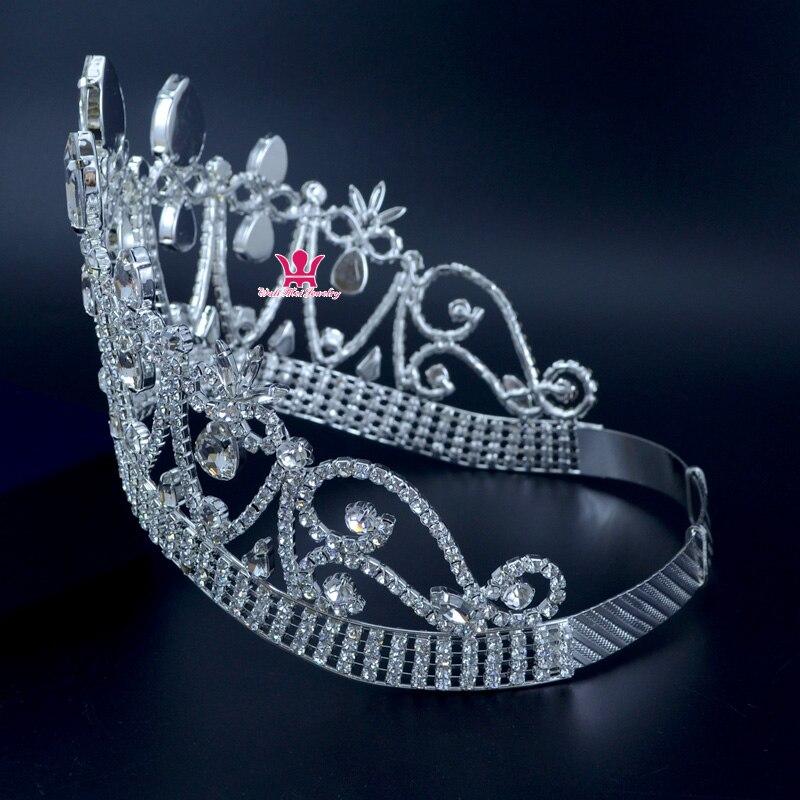 Короны оригинальный горный хрусталь кристалл Mrs красоты конкурса корона свадьбы, памятные события Свадебные аксессуары для волос стиль кор... - 3