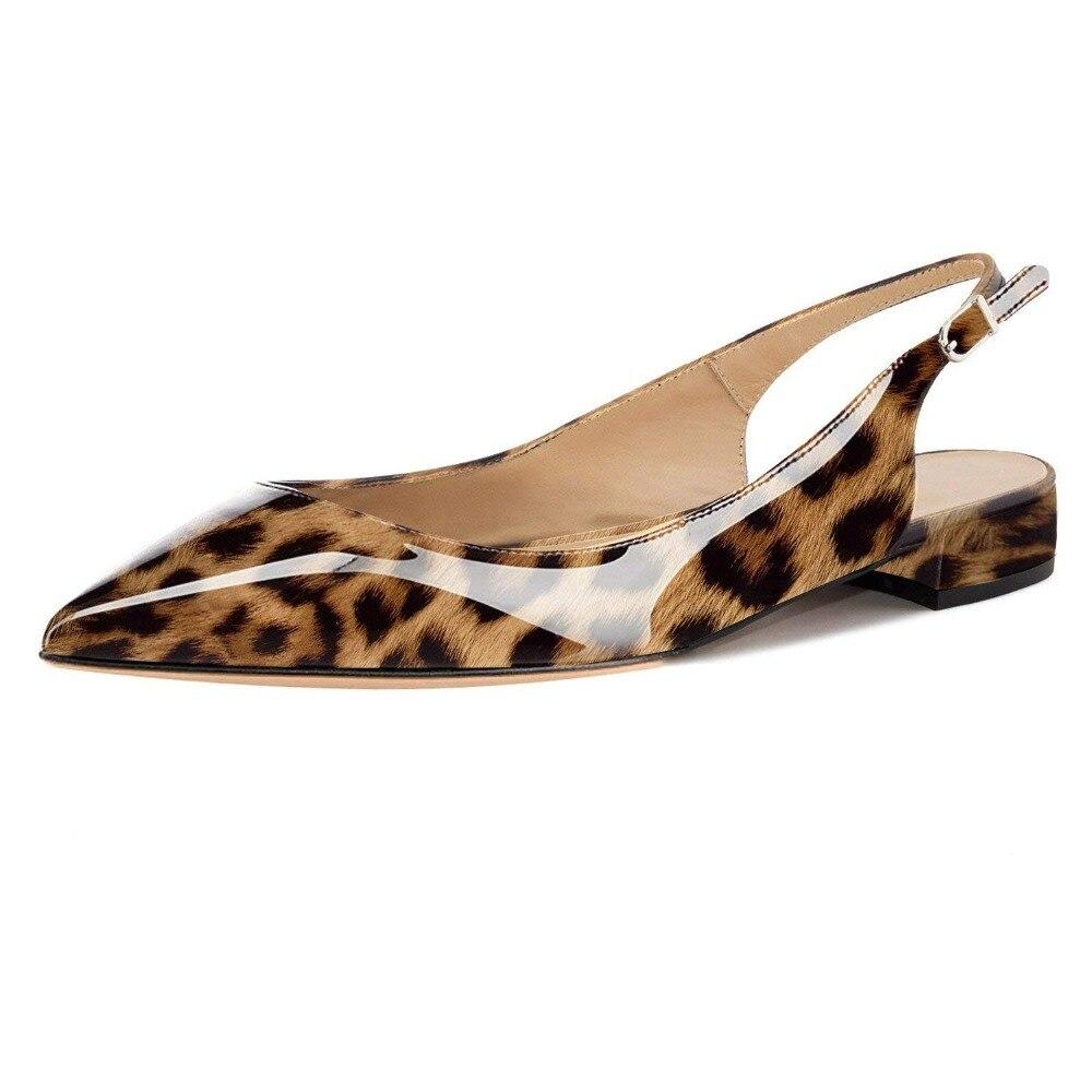 Schuhe Kmeioo leopard purple Verkauf Spitz black Gleitet Für Blue blue Flache leopard Pantoffel Ferse Mischfarben leopard Black Kleid Mode Frauen beige Heißer leoard Red Mule black 2018 Schnalle Maultiere red f0fSXr6