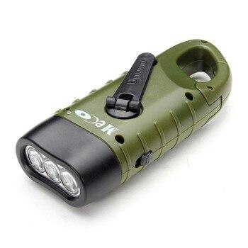 Hand Crank Dynamo Solar Flashlight  4