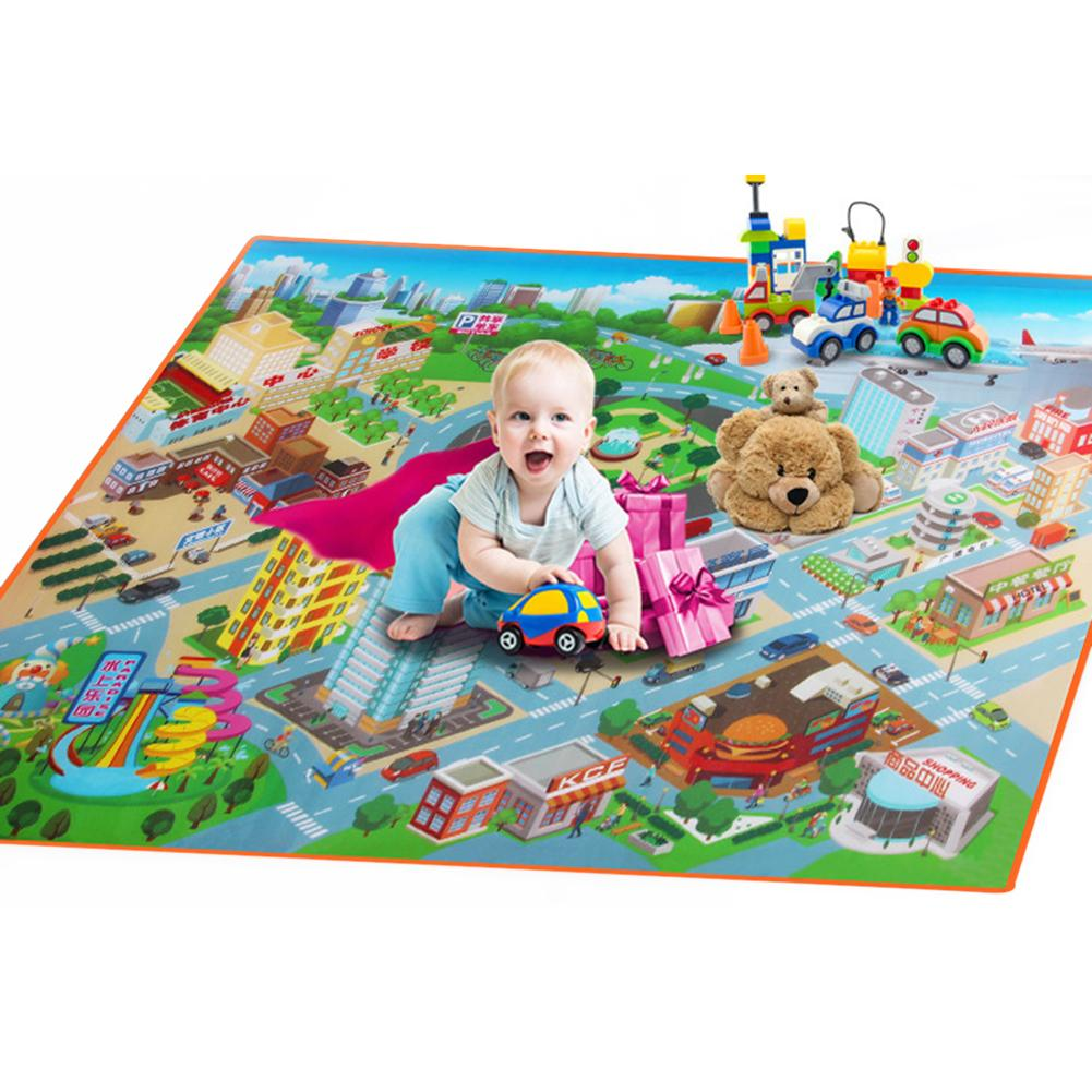 Baby Kids Play Mat Foam Floor Child Activity Soft Toy Gym Crawl Creeping Blanket Toddler Route Map Of Climbing Carpet Rug Pad