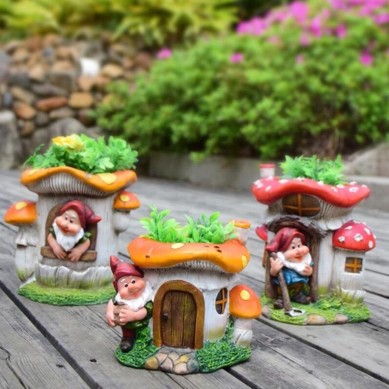 Dwarf Flower Cylinder Decoration Kindergarten Flowerpot Ornament Garden Community Outdoor Villa Landsca