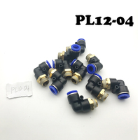 Free Shipping 20Pcs/lot PL12 04 12mm To 1/2 BSPT Elbow Male Air Pneumatic Quick Connect jointer Connectors Fitting 12mm to 1/2