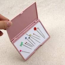 Розовый магнитная доска для хранения Коробка для иголок Магнитная игла коробка для хранения ручной DIY вставка иглы Пластик иглы всасывающая коробка# YW