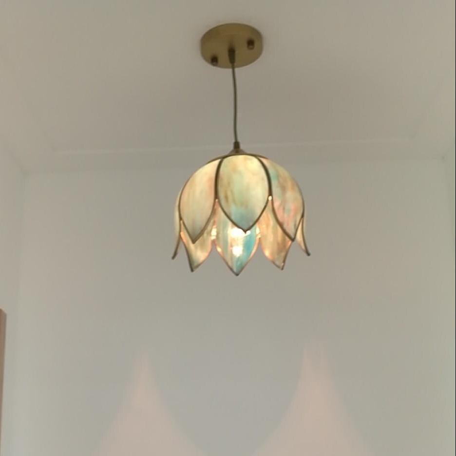 Античный 1 шт. Tiffany лампы блеск стеклянный шкентель фары для столовой кухонный свет Ретро E27 светодиодные подвесные светильники Avize