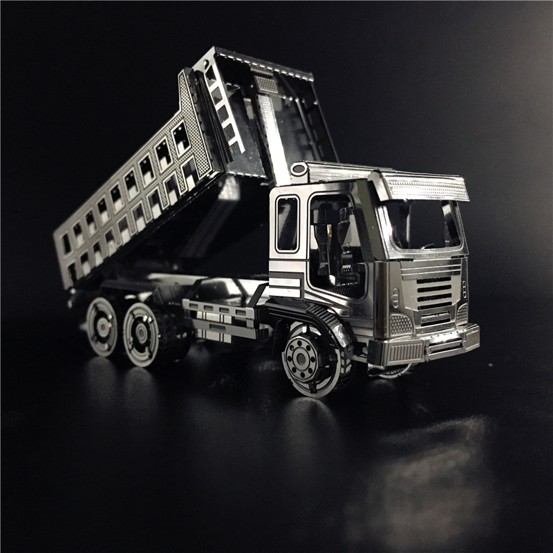 MMZ MODEL NANYUAN 3D Metal Puzzle Self-Dump Truck Engineering Vehicle Assembly Model DIY 3D Laser Cut Model Puzzle Toy For Adult