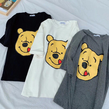 2019 Summer Cartoon Bear T-Shirt For Women Casual White Tops Tshirt T Shirt Print Female