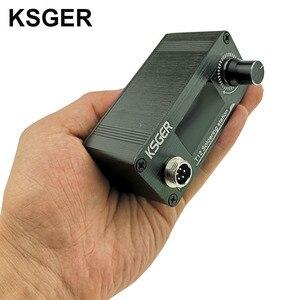 Image 4 - KSGER Mini estación de soldadura T12 DIY STM32 OLED V2.01, controlador con mango de 907, Kits de carcasa de aleación de aluminio, herramientas de soldadura T12, puntas de hierro