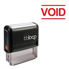 Bbloop Void w/text с блочным пространством ниже стиля шрифт и дизайн Self-Ink