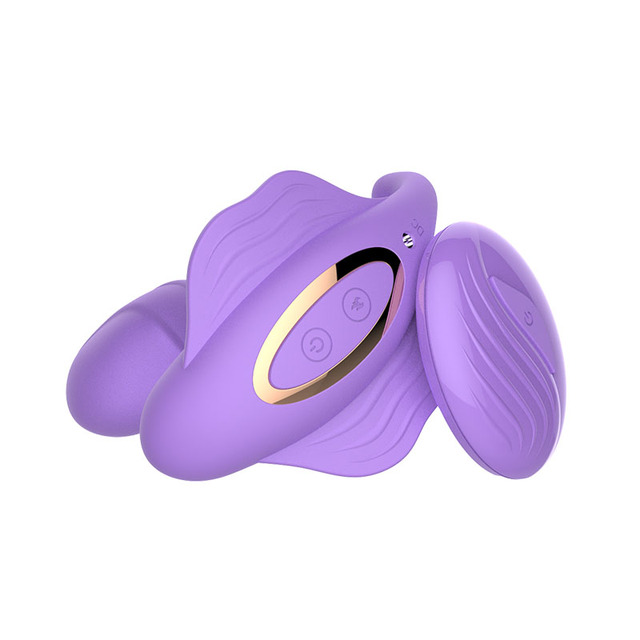 WEARABLE PANTIES DILDO G-SPOT VIBRATOR WITH REMOTE
