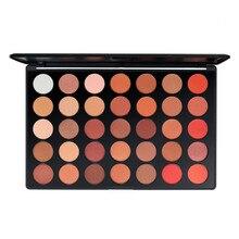 Makeup Pallete 35 Color Orange Eye Shadow Powder Pearly Matte Long-Lasting Glitter Eyeshadow