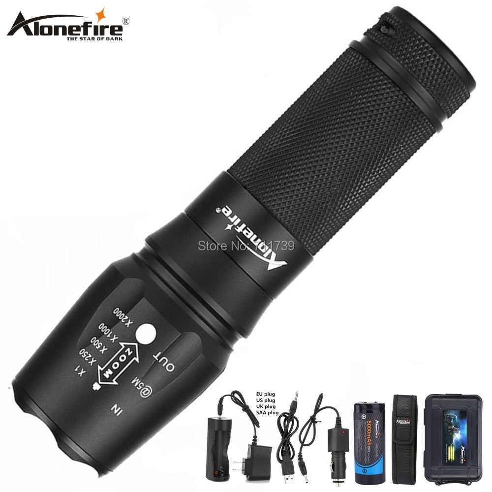 AloneFire X800 XM-L T6 L2 5000LM aluminium étanche Zoomable CREE lampe de poche torche pour AAA 18650 26650 batterie Rechargeable