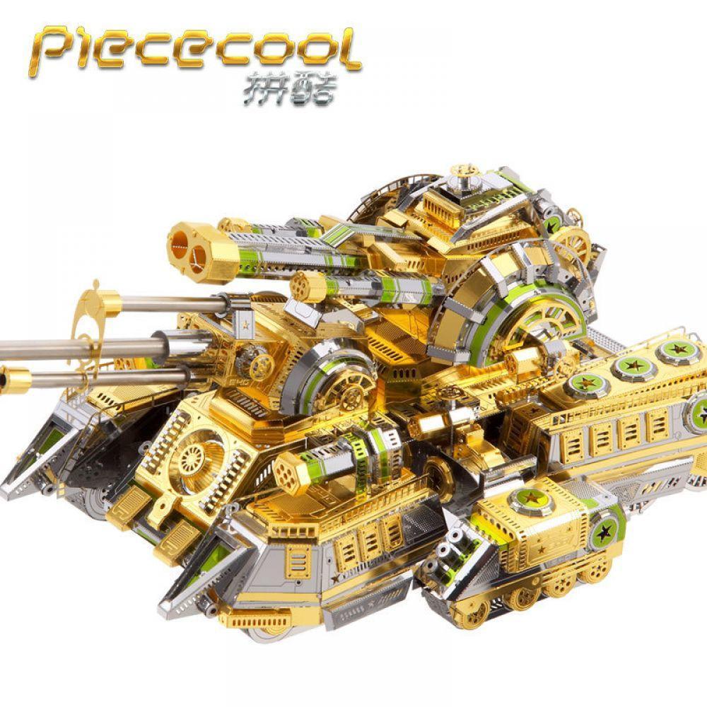 Piececool réservoir modèles 3D casse-tête en métal SKYNET ARAIGNÉE SUPER-LOURD RÉSERVOIR bricolage Puzzles De Découpe Laser modèle puzzle Pour Adultes jouets pour enfants