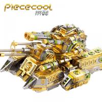 Piececool tank models 3D Metal Puzzle SKYNET SPIDER SUPERHEAVY TANK DIY Laser Cutting Puzzles Jigsaw Model For Adult Kids Toys