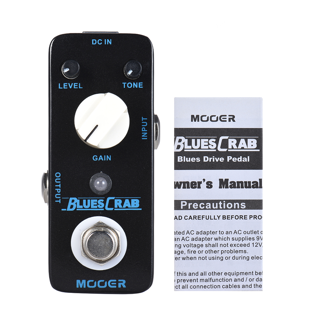 MOOER BLUES CRAB Guitar Pedal Blues Overdrive Guitar Effect Pedal True Bypass Full Metal Shell Guitar