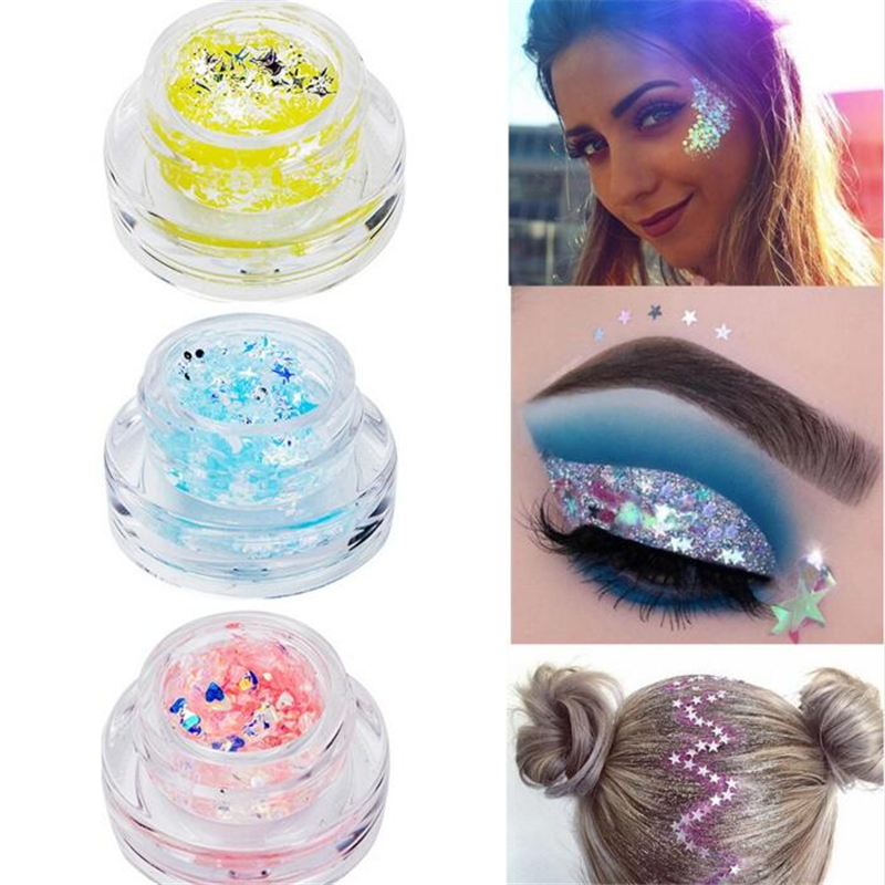 Beauty & Health Hair Shimmer Lips Makeup Highlighter Mermaid Glitter Sequin Cream Gel Eye Face Body Nail Glitter Star & Heart Eye Shadow