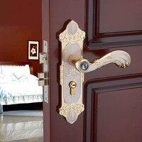אירופאי מודרני חדר שינה דלת מנעול ענבר לבן מוצק עץ דלת ידית דלת עץ מנעול נעילת חומרה