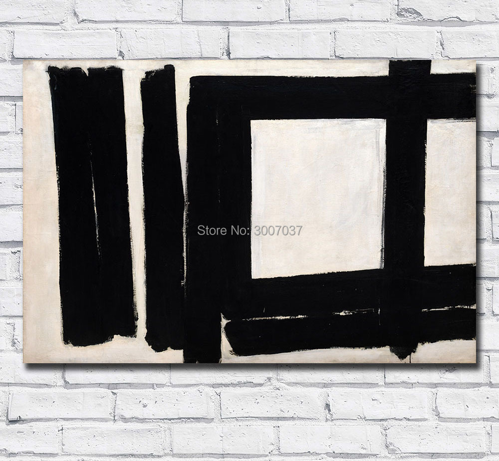 Free Shipping by DHL Oil Painting Franz Kline Painting No. 7 Wall Art Canvas Painting Pictures for Living Room and Bedroom