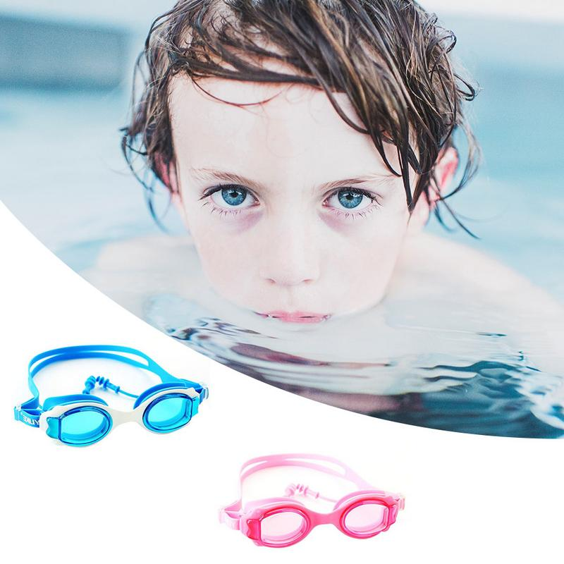 Ingegnoso Colorato Regolabile Per Bambini Per Bambini Occhiali Da Nuoto In Silicone Impermeabile Hd Trasparente Anti-fog Vetri Di Nuoto Con Tappi Per Le Orecchie