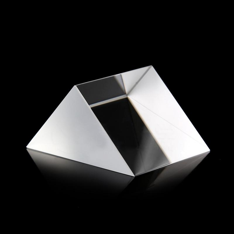 45x45x45cm Optical Glass Prisms Equilateral Triangle Right Angle K9 Prisms Lens Light Spectrum Physics Medicine