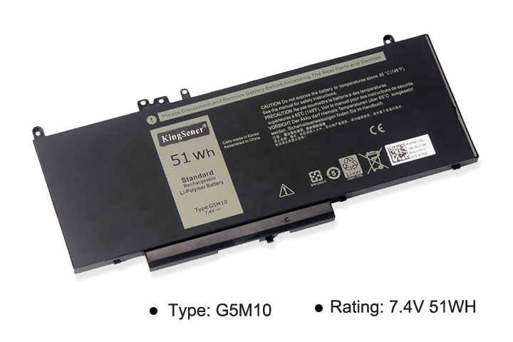 KingSener G5M10 Аккумулятор для ноутбука DELL Latitude E5250 E5450 E5470 E5550 E5570 8V5GX R9XM9 WYJC2 1KY05 7,4 V 51WH