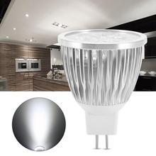 цена на 12V MR16 5W LED Light Bulb Aluminum Decorating Lamp Cold White For Home Restaurant Hotel Bar