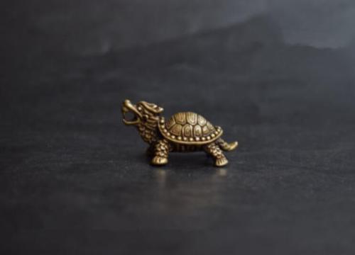 Chinese Pure brass God beast small pendant
