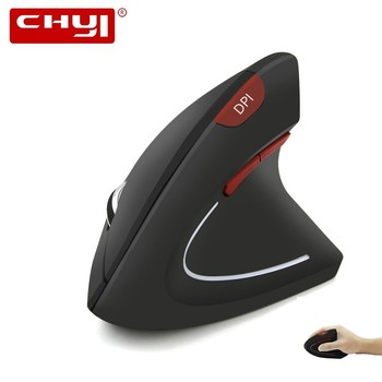 CHYI Ergonomic Wireless Vertical Computer Red 1600DPI Button Optical 6D Gaming Mause LED Backlit Usb