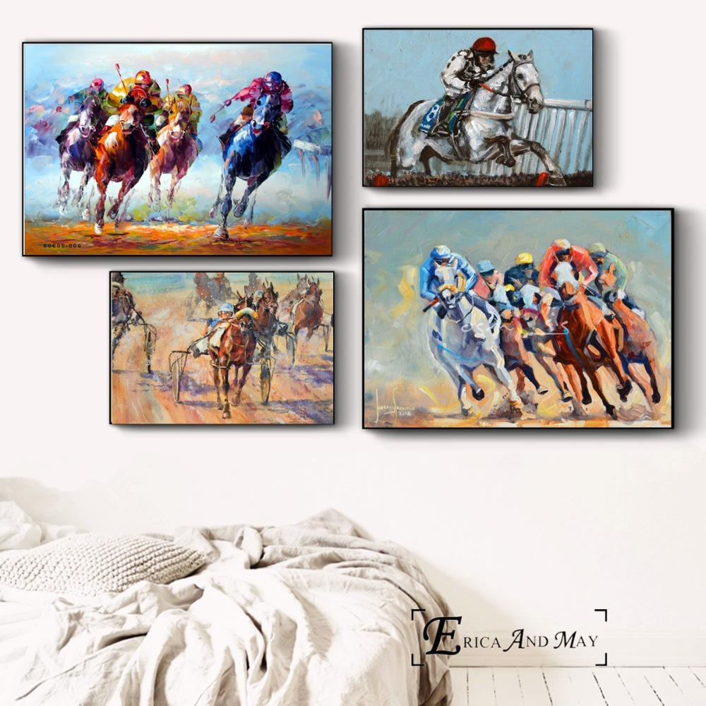 Horse Racing Clic Canvas Painting
