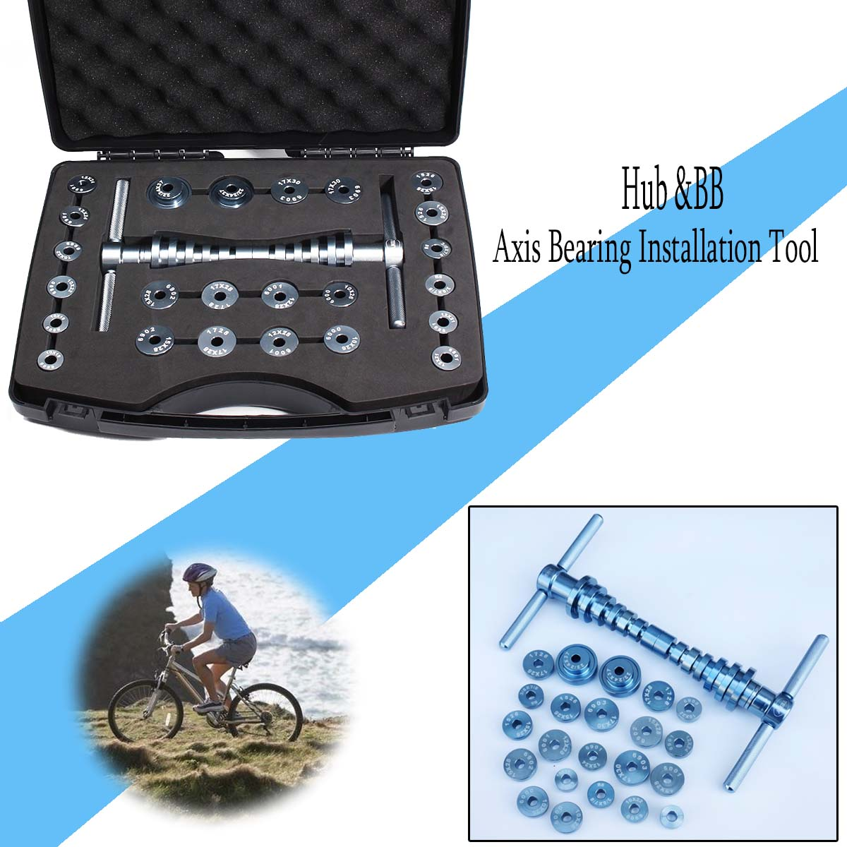 Bicycle Bottom Bracket Hub Bike BB Axis Bearing Removal Installation Kit Set Hand Tool SetBicycle Bottom Bracket Hub Bike BB Axis Bearing Removal Installation Kit Set Hand Tool Set