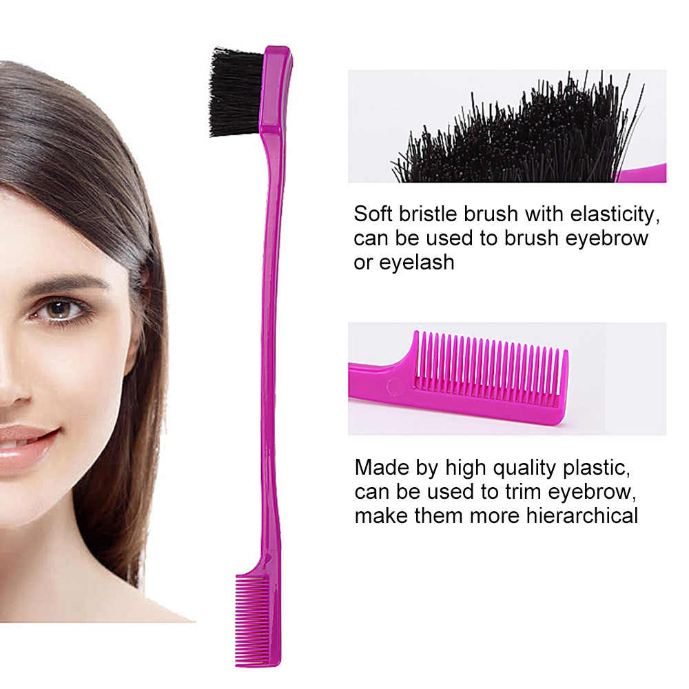 Double Sided Control Hair Brush Comb 2 In 1 Hair Styling Comb Eyebrow Brush For Natural Hair Combs Aliexpress