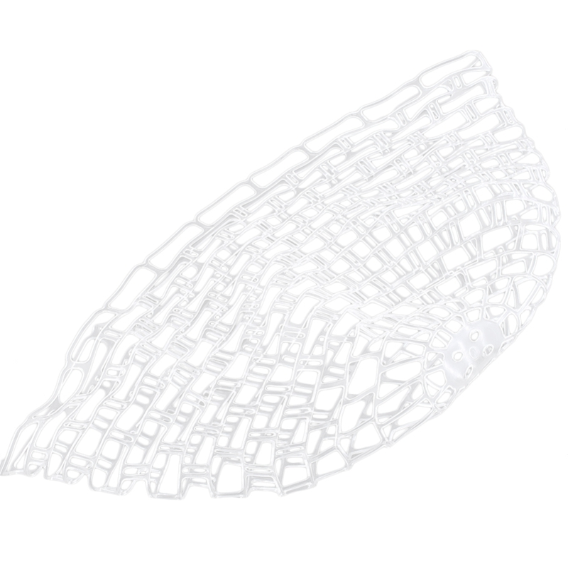 Portable Fly Fishing Landing Net White Rubber Replacement Bag M//L Sizes