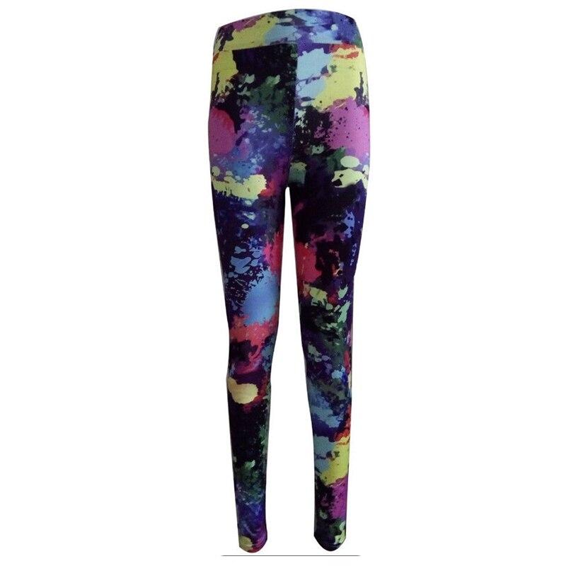 New Womens High Waist Fitness 3D Scrawl Paint Print Leggings Stretch Yogawear Slim Bodycon Leggings Slacks Romper Trousers Hot