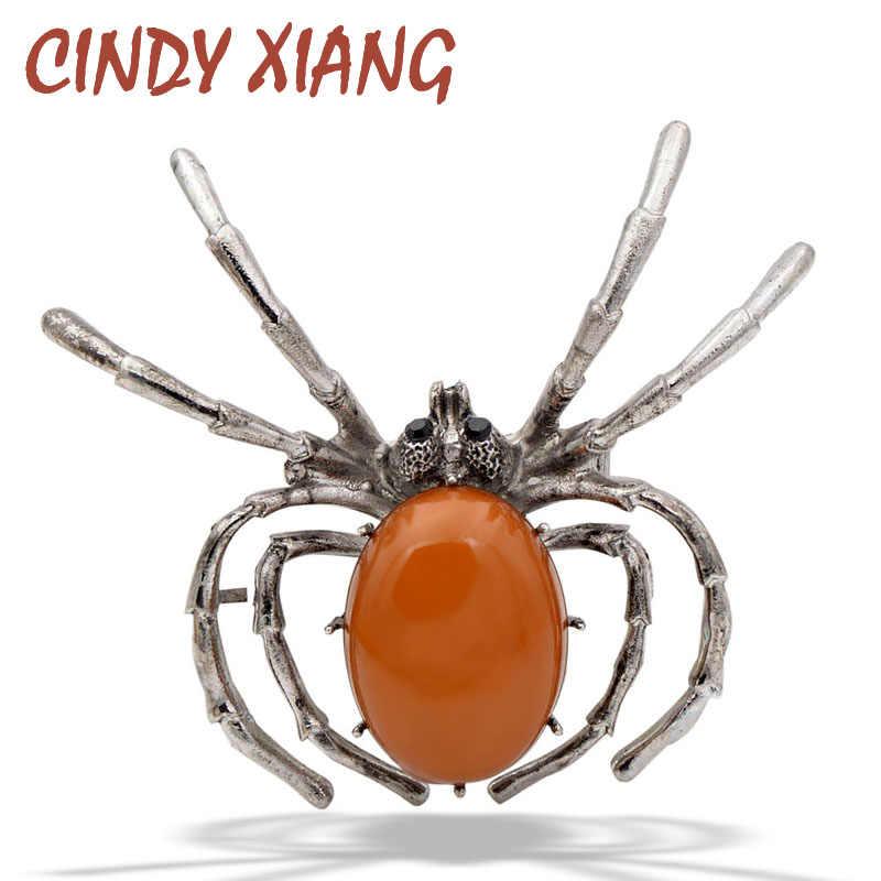 CINDY XIANG Nuovo 2018 Resina Spider Spille per Le Donne di Modo Dell'annata Insetto Monili di Halloween Bug Spille Jeans Accessori Regalo
