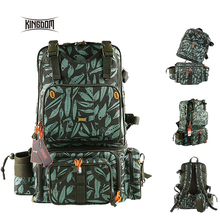 Kingdom 1000D Waterproof Nylon Multifunctional Fishing Tackle Backpack Detachable Combination Lure B