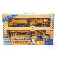 RCtown Kids Large Simulation Inertia Excavator Truck Mixer Truck Dumper Lift Truck Toys Model Classic Car Toy Children Gifts