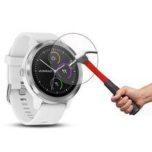 10 PCs szkło hartowane Screen Protector odporna na zarysowania odporne na zużycie smart watch folia ochronna dla Garmin Vivoactive 3