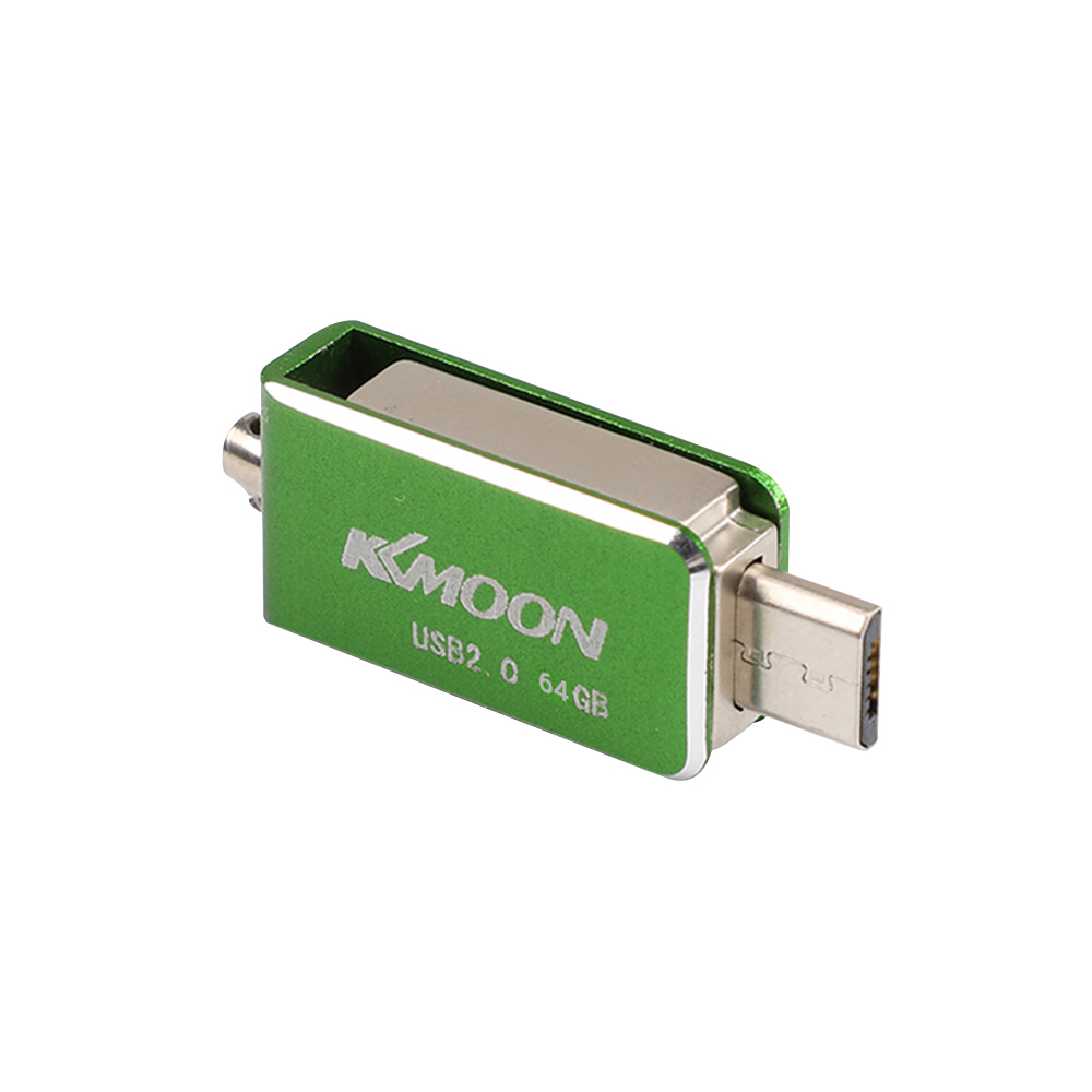 KKMOON USB 2.0 OTG Pen Drive Rotatable Flash Drive 16GB 32GB 64GB External Storage Pendrive Memory Dual Plug USB Stick U Disk